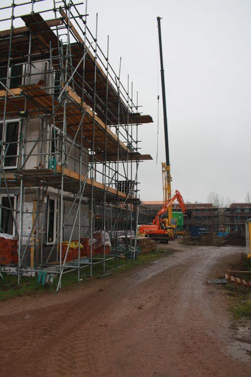 Binnenterrein vanaf bouwnummer 32 gezien